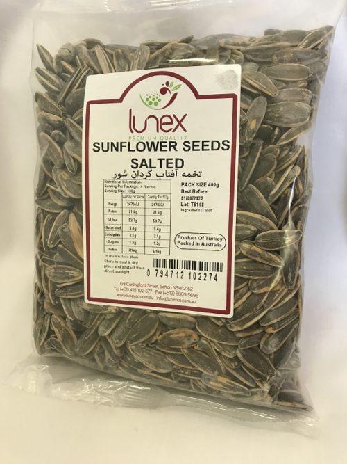 Sunfloer Seeds- Salted- 400g Lunex- BNT0021 1